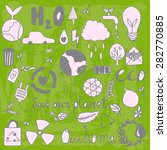 set of hand drawn eco friendly... | Shutterstock .eps vector #282770885