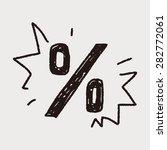 percentage doodle   Shutterstock .eps vector #282772061
