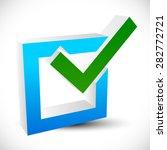 check mark  check box vector... | Shutterstock .eps vector #282772721