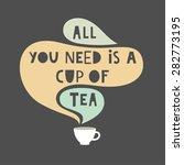 tea time card design. vector... | Shutterstock .eps vector #282773195
