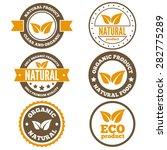 set of vintage logo  label ... | Shutterstock .eps vector #282775289