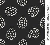 easter egg doodle seamless...   Shutterstock .eps vector #282777614