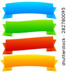 wide  blank horizontal banners. ... | Shutterstock .eps vector #282780095