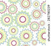 abstract seamless flower pattern | Shutterstock .eps vector #282780239