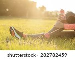 runner woman warm up | Shutterstock . vector #282782459