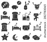 sleep icon | Shutterstock .eps vector #282783065