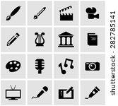 vector black art icon set.   Shutterstock .eps vector #282785141