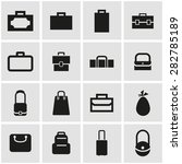 vector black bag icon set. | Shutterstock .eps vector #282785189