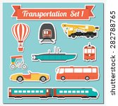 set of all types of transport... | Shutterstock .eps vector #282788765