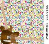 flower power seamless... | Shutterstock . vector #282791537