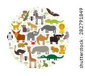 animal africa  parrot hyena... | Shutterstock .eps vector #282791849
