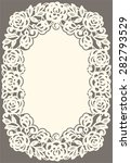 white lace card. | Shutterstock .eps vector #282793529