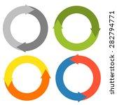 2 arrows making a circle   set...