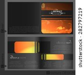 brochure template design. ... | Shutterstock .eps vector #282797219