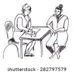 instant sketch. nurses have a... | Shutterstock . vector #282797579