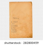 vintage paper sheet with old...   Shutterstock .eps vector #282800459