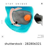 abstract painting template.... | Shutterstock .eps vector #282806321
