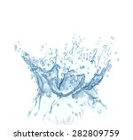 Splash Water Isolated On A...