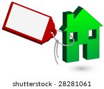 house with price tag vector. | Shutterstock .eps vector #28281061