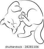 Stock vector kitty 28281106