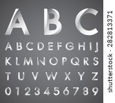 alphabetic fonts and numbers | Shutterstock .eps vector #282813371