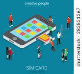 flat 3d isometric mobile... | Shutterstock .eps vector #282821267