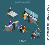 flat 3d isometric abstract bank ... | Shutterstock .eps vector #282821477