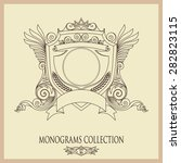 vintage vector monogram.... | Shutterstock .eps vector #282823115