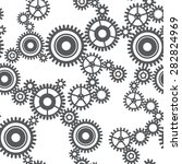 seamless pattern of gear wheels ... | Shutterstock .eps vector #282824969