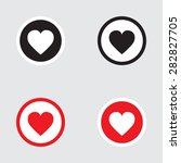 heart icon vector black and red ... | Shutterstock .eps vector #282827705