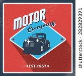 vintage garage background. old... | Shutterstock .eps vector #282829391
