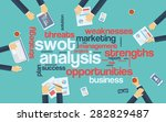 swot analysis infographics... | Shutterstock .eps vector #282829487