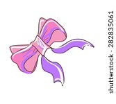 colored doodle bow knot ... | Shutterstock .eps vector #282835061
