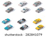 vector isometric icon set... | Shutterstock .eps vector #282841079