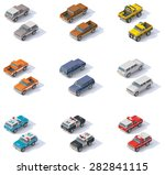 vector isometric icon set... | Shutterstock .eps vector #282841115