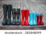 five pairs of a colorful rain... | Shutterstock . vector #282848099