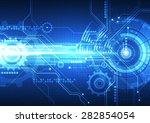 vector digital technology... | Shutterstock .eps vector #282854054