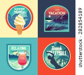summer vacation set labels and... | Shutterstock .eps vector #282854189