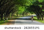 man riding bicycle in the... | Shutterstock . vector #282855191