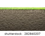 grass with roots and soil  | Shutterstock . vector #282860207
