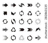 black simple vector arrow sign... | Shutterstock .eps vector #282863135