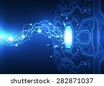 abstract electronic circuit... | Shutterstock .eps vector #282871037
