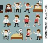 cute cartoon businessman in... | Shutterstock .eps vector #282874901