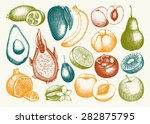 vector collection of ink hand... | Shutterstock .eps vector #282875795