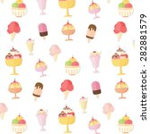 ice cream and popsicle seamless ... | Shutterstock .eps vector #282881579