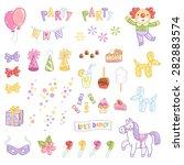party accessories vector... | Shutterstock .eps vector #282883574