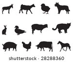 farm animals | Shutterstock .eps vector #28288360