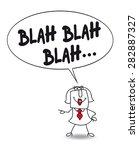 blah blah karen. karen is... | Shutterstock .eps vector #282887327