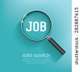 searching jobs  design on blue... | Shutterstock .eps vector #282887615