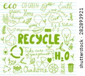 set of hand drawn eco friendly... | Shutterstock .eps vector #282893921